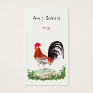 Vintage Rooster Illustration Business Card