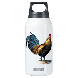 Vintage Rooster Insulated Water Bottle