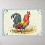 Vintage Rooster Print