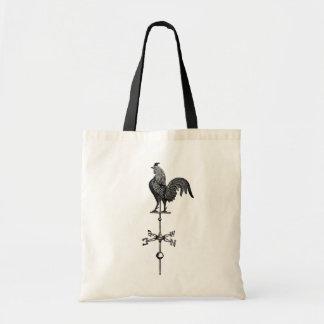 Vintage Rooster Weather Vane Budget Tote Bag