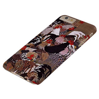 Vintage Roosters Art Barely There iPhone 6 Plus Case