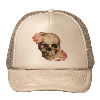 Vintage Rosa Skull Collage Hats