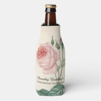 Vintage Rose 80th Birthday Celebration Bottle