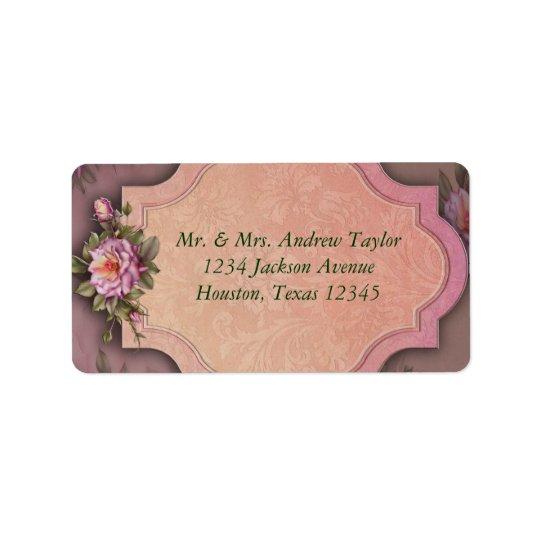 Vintage Rose Address Labels