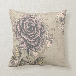 Vintage Rose American MoJo Pillow Throw Cushions