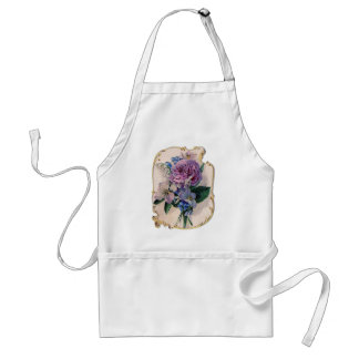 Vintage Rose and Lily of the Valley Standard Apron