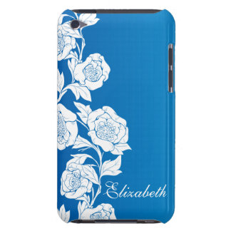 Vintage Rose Blue iPod Touch Case-Mate Case