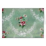 Vintage Rose Bouquet Wallpaper Design Greeting Card