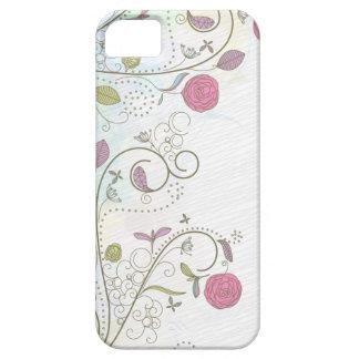 Vintage rose bud floral swirls iphone 5 case