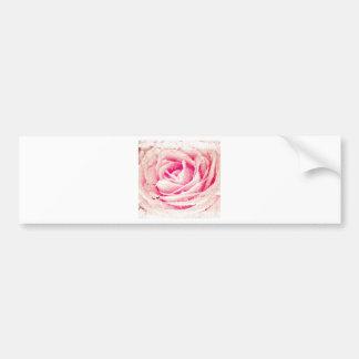 vintage rose bumper sticker