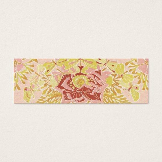 Vintage Rose & Butterflies - Bookmark Mini Business