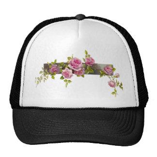Vintage Rose Cascade Trucker Hat