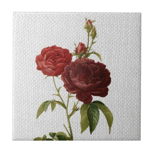 Vintage Rose Ceramic Tile