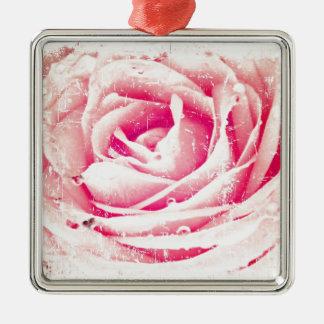vintage rose christmas ornament