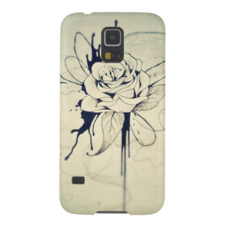 Vintage Rose Drawing Galaxy S5 Case