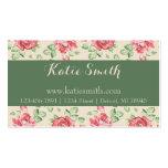 Vintage Rose Floral Business Cards