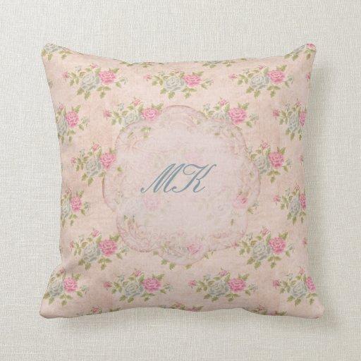 Vintage Rose Floral Pillows
