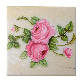 Vintage Rose Floral Tile