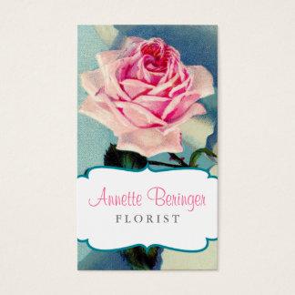 Vintage Rose Florist Business Card