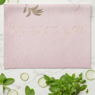 Vintage Rose Flower Kitchen Towel Shabby Chic