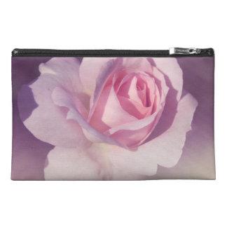 Vintage Rose Flower Pink Purple Design Travel Accessory Bags