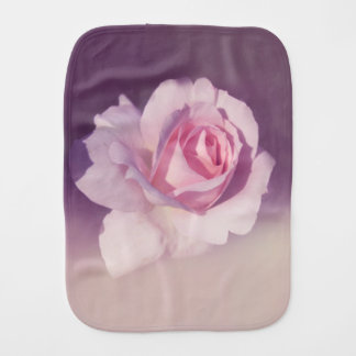 Vintage Rose Flower Pink Purple Design Burp Cloth
