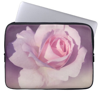 Vintage Rose Flower Pink Purple Design Laptop Sleeve