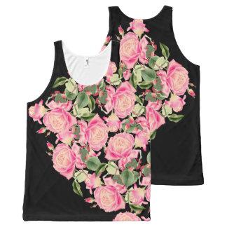 Vintage Rose Flowers Floral Botanical Art All-Over Print Tank Top