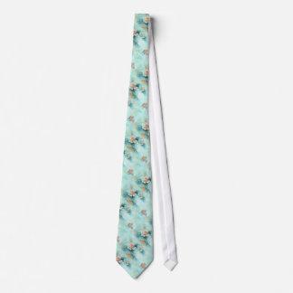 Vintage rose flowers tie