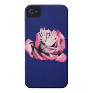 Vintage Rose Hands Nails Grunge iPhone 4 Case