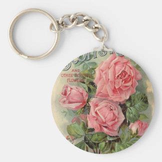 Vintage Rose Keychain