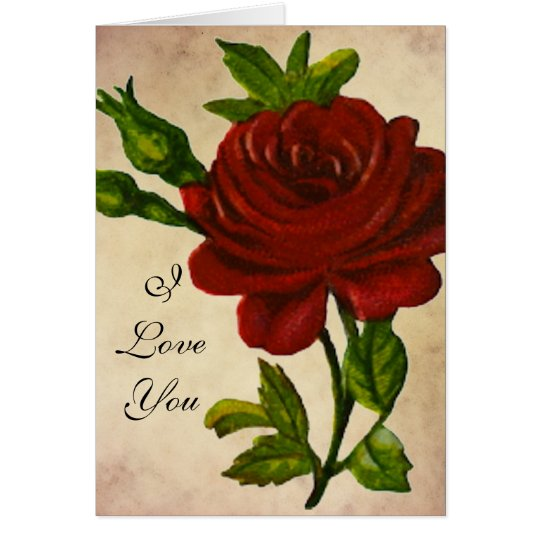 Vintage Rose Love Card