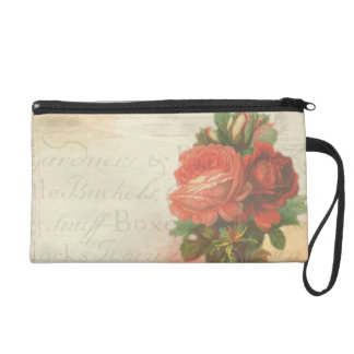 Vintage rose makeup bag