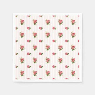 Vintage Rose Napkins Disposable Serviettes