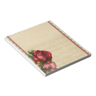 Vintage Rose Notepad