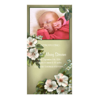 Vintage Rose Photo Card Template