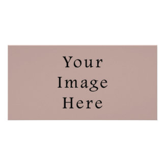 Vintage Rose Pink Color Trend Blank Template Photo Card Template