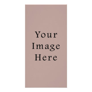 Vintage Rose Pink Color Trend Blank Template Picture Card