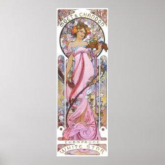 Vintage Rose Pink Goddess Poster