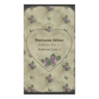 Vintage Rose Powderbox Print Business Card