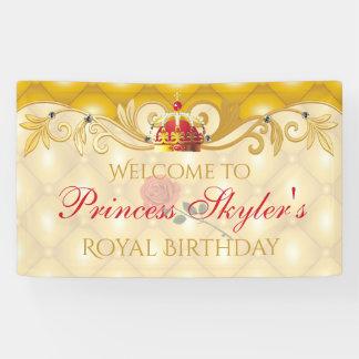 Vintage Rose, Princess Birthday Banner