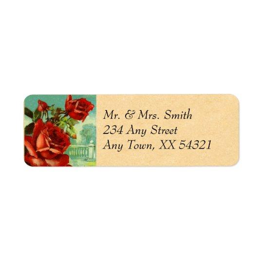 Vintage Rose Return Address Label