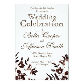 Vintage Rose Rustic Wedding 9 Cm X 13 Cm Invitation Card