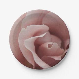 Vintage rose 7 inch paper plate