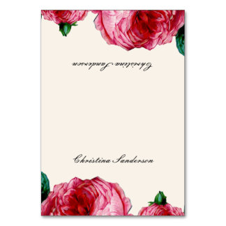 Vintage Rose Table Name Cards