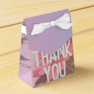 Vintage Rose Thank You Gift Bag Favour Box