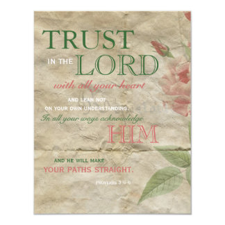 Vintage Rose Trust in the Lord Encouragement Cards Invite