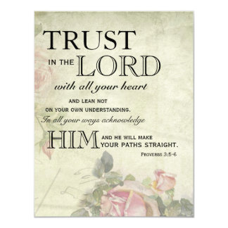 Vintage Rose Trust in the Lord Encouragement Cards Announcements