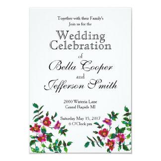 Vintage Rose Wedding 9 Cm X 13 Cm Invitation Card
