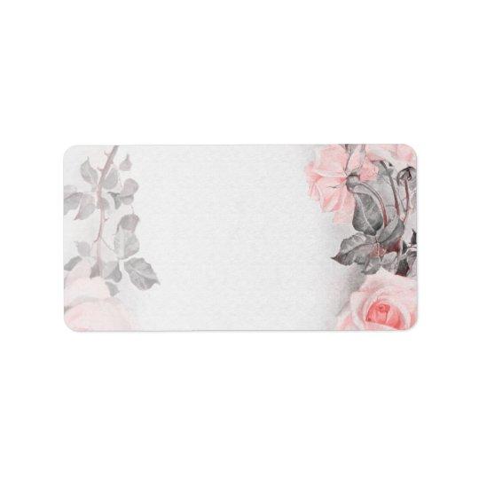 Vintage Rose Wedding Blank Address Labels